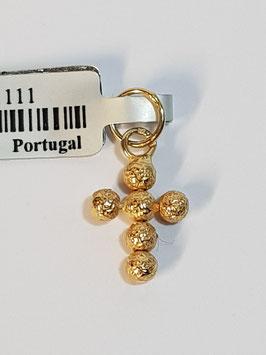 Cruz em Ouro e bolas granitadas 3mms