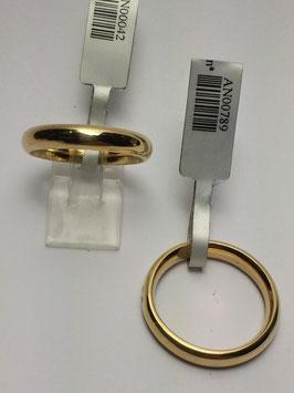 Aliança ouro, amendoada 3,5x2mms - 15