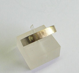 Aliança ouro quadrada amendoada 4.3 - 245