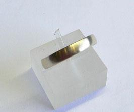 Aliança ouro amendoada escovada 3.5 - 435