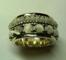 Aliança de Prata e Ouro - ANH1331