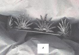 Tiara de cabelo em prata folas - J - RB