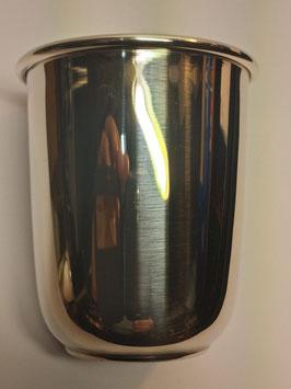 Copo liso 1/2 cana em prata