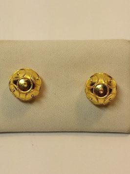 Brincos ouro bola de Viana 9mms
