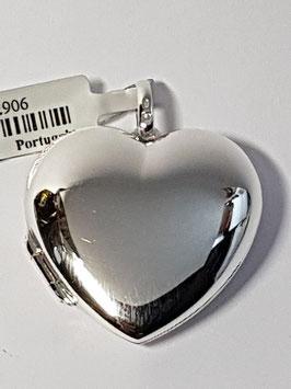 Medalha coração abrir liso 22 - BL343 PP