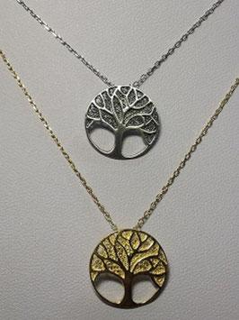Fio em prata com Árvore da Vida em filigrana