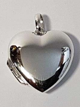 Medalha coração abrir liso 28 - BL344 PP