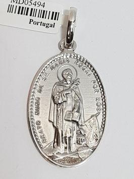 Medalha São Nuno de Santa Maria - Santo Condestável 28.20 - Dupla PP