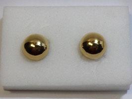 Botão de Punho Ouro - Meia Bola