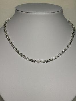 Fio Prata Malha Cadeado Redondo - Grossura 120