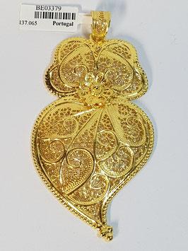 Coração de Viana de filigrana em prata dourada 65.75 - PP