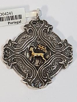 Medalha Agnus Dei em Prata - Losango - ARK