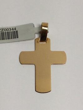Cruz em ouro chapa de cantos arredondados 27.20.6,5