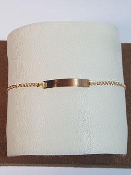 Pulseira de criança em ouro com chapa malha Love - 150.1,7 - MM