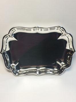 Taça lisa rectangular com bicos em Prata - Space 130 - FM