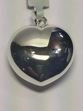 Coração Prata - Bojudo Liso - PP