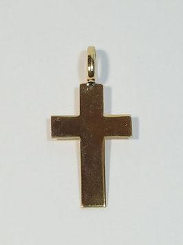 Cruz em ouro chapa de cantos quadrados 20.13.3,5 - ON