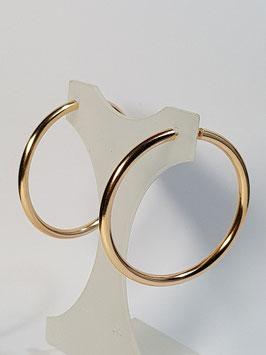 Brincos ouro argola fio redondo 45.2,5 - AR