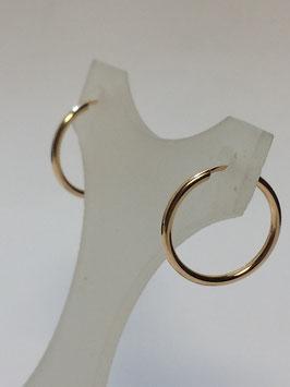 Brincos ouro argola fio redondo 18.1,7 - MM