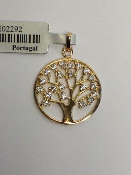 Berloque medalha Árvore da Vida 17 - Zircónias