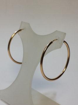 Brincos ouro argola fio redondo 35.1,5 - IGL