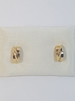 Brincos ouro meia argola fio traçado 9.3,5 - OC