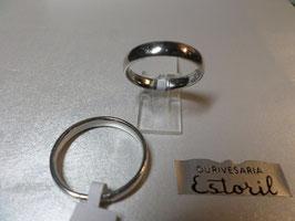 Aliança de Prata Amendoada 3,5mm