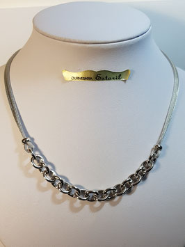 Fio prata manga com corrente cadeado redondo - DB
