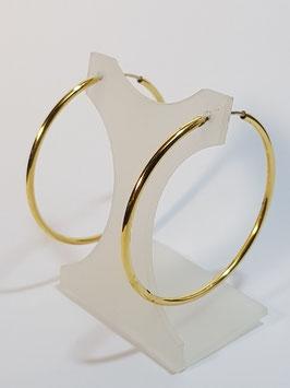 Brincos ouro argola fio redondo 45.2 - EG