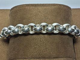 Pulseira prata de cordão médio forrado - PP / PS243.10
