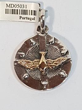 Medalha Espirito Santo - 7 Dons Pomba Ouro
