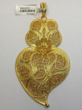 Coração de Viana de filigrana em prata dourada 70.85 - AN
