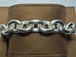 Pulseira prata de cadeado redondo e elos ovais largos - PP / PS228.03