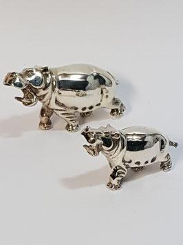 Hipopótamos em prata - PP