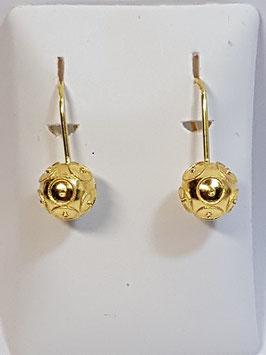 Brincos ouro bola de Viana 8 Gancho - AR