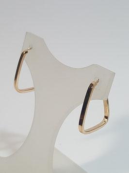 Brincos ouro argola triangular fio quadrado 18.15.1,7- MM