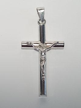 Cruz prata fio redondo Cristo 4mms - PP BL002.435