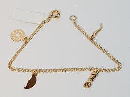 Pulseira de Criança em Ouro malha love 150.16 - amuletos - IGL