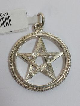Estrela 5 Pontas Prata, Aro - Pentagrama