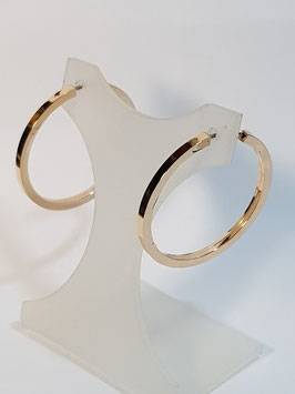 Brincos ouro argola redonda de fio quadrado 30.2 - IGL
