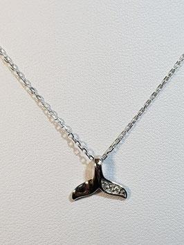 Fio prata cauda de baleia com zircónias - DB