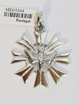 Medalha Espírito Santo Pomba Prata - Resplendor MS