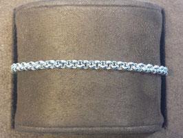 Pulseira prata de cordão maciço 120 - PP