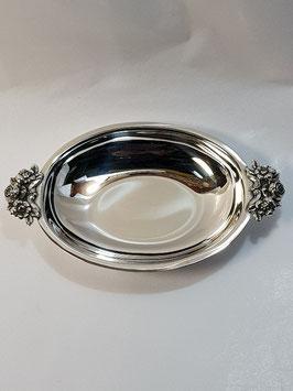 Taça Lisa Oval em Prata com Flores - FM