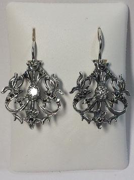 Brincos em prata e marcassitas aranha - FM/BR03851