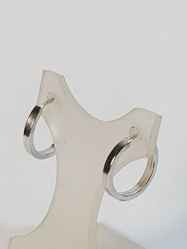 Argolas ouro branco fio quadrado 12.1,7 - AR