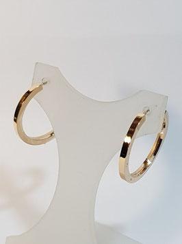 Brincos ouro argola redonda de fio quadrado 22.2 - IGL