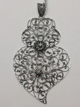 Coração de Viana de filigrana em prata 77