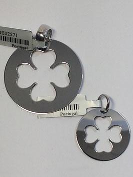 Medalha em prata trevo recortado - RR