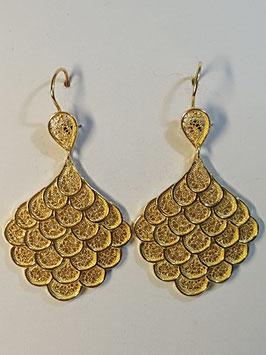 Brincos filigrana em prata dourada pinha - 50.40 RR